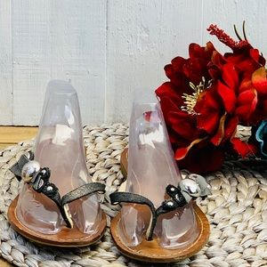 Coach sandals leather